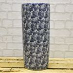 Blue and White Roses Ceramic Freestanding Umbrella Stand 45 cm